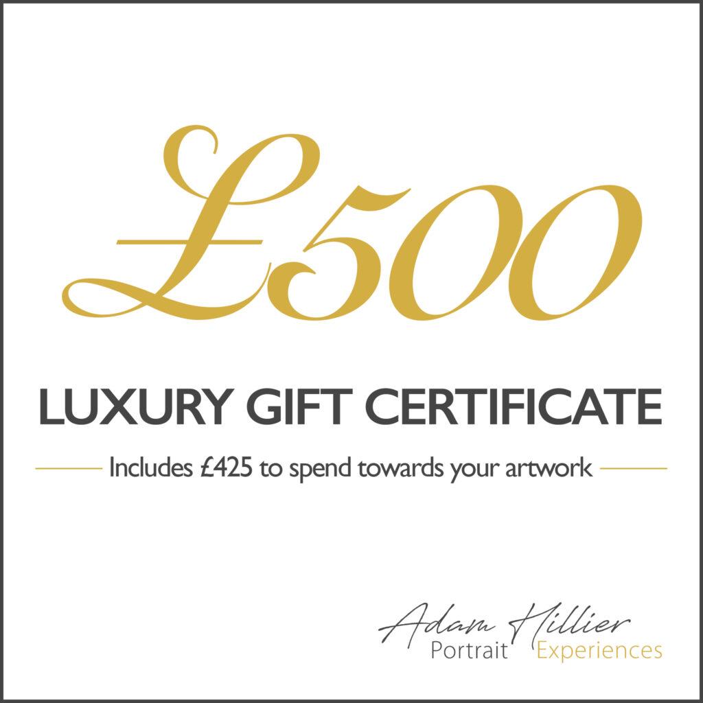£500 Portrait Gift Certificate